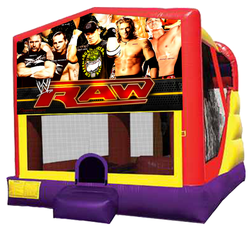 WWE Wrestling 4-in-1 Combo Bounce House Water Slide in Austin Texas from Austin Bounce House Rentals