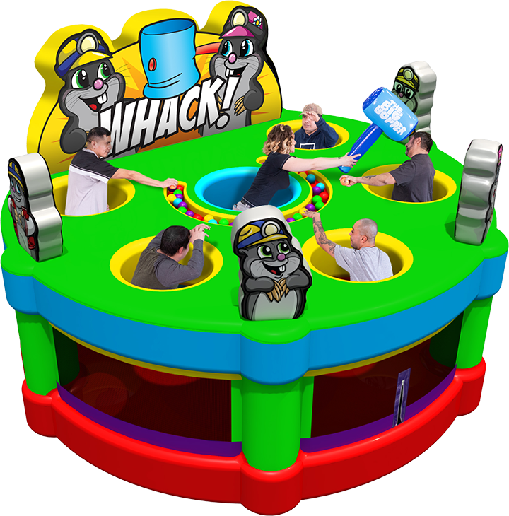 Wacky Mole game rental for parties in Austin Texas from Austin Bounce House Rentals