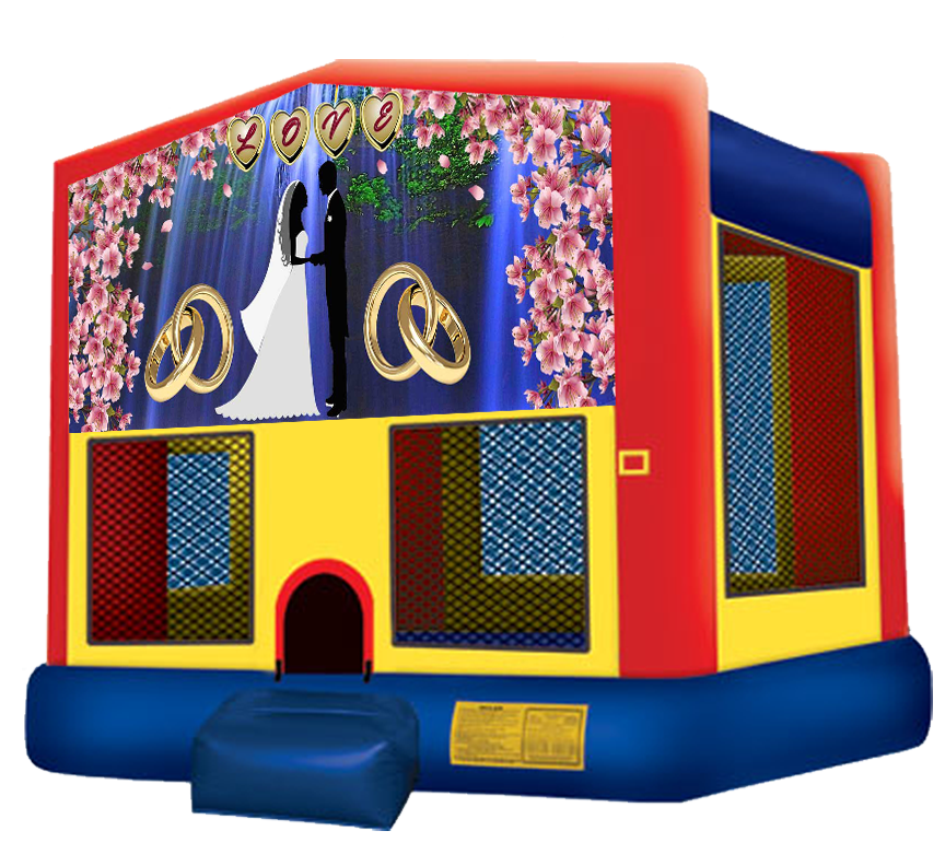 Wedding Love Bounce House by Austin Bounce House Rentals in Austin Texas
