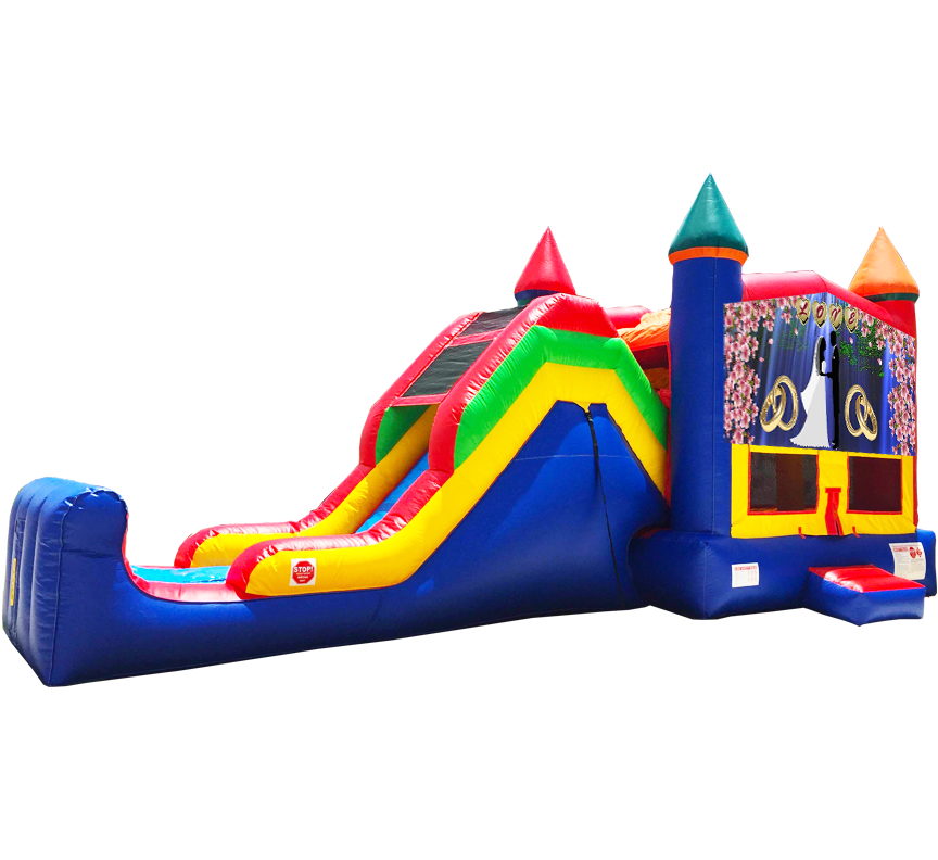 Wedding Love Super Combo 5-in-1 Rental in Austin Texas - Austin Bounce House Rentals