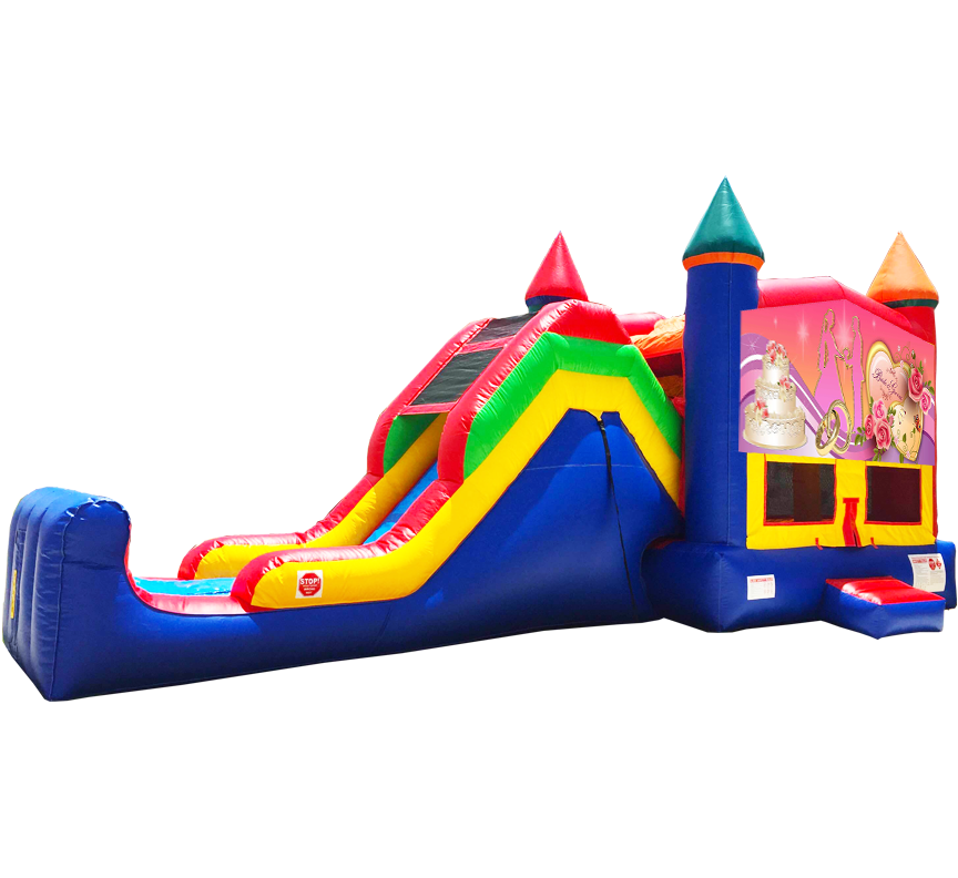 Wedding Hearts Super Combo 5-in-1 Rental in Austin Texas - Austin Bounce House Rentals