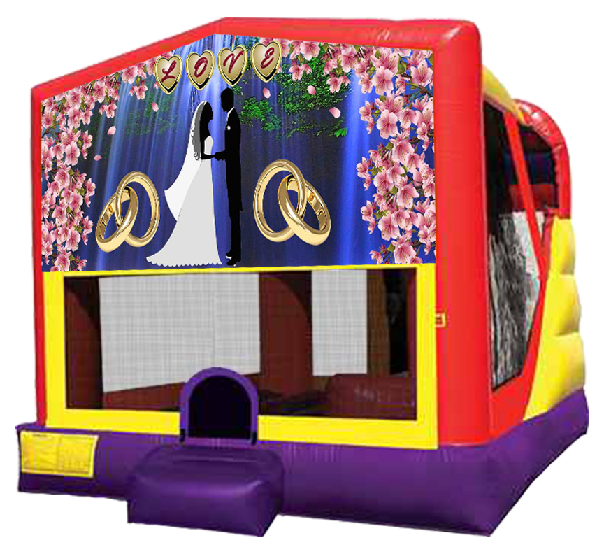 Wedding Love XL Combo 4-in-1 rental in Austin Texas by Austin Bounce House Rentals