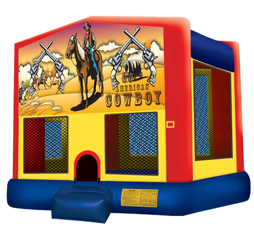 Western Cowboy Bounce House rental in Austin Texas from Austin Bounce House Rentals