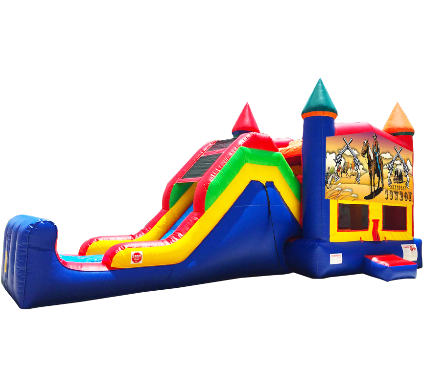 Western Cowboy Super Combo 5-in-1 inflatable rental in Austin Texas