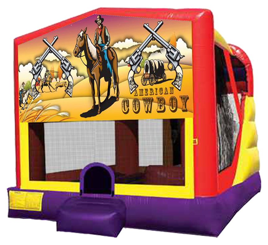 Western Cowboy 4-in-1 Combo Rental in Austin Texas from Austin Bounce House Rentals