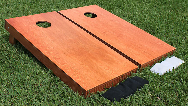 Cornhole game for backyard fun in Austin Texas from Austin Bounce House Rentals