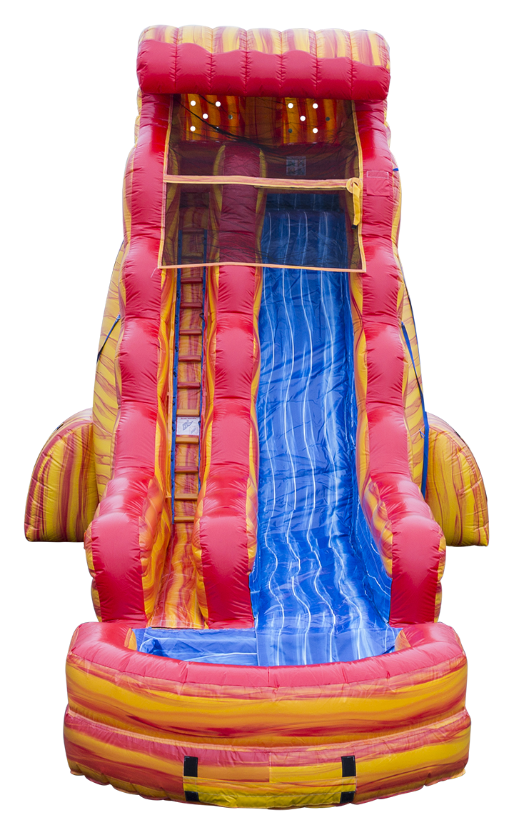 Blazing Tides Water Slide front view