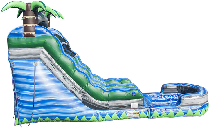 Blue Crush Water Slide side view