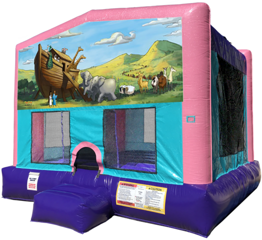 Noah's Ark Bouncer - Pink Edition Animals Zoo