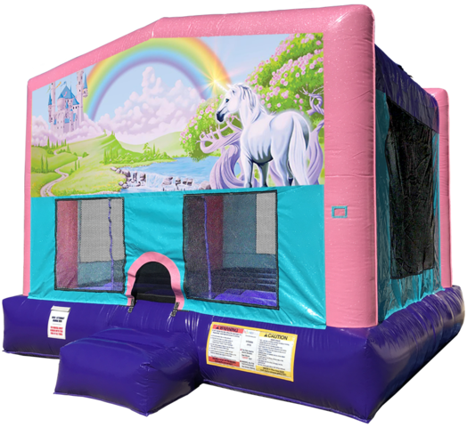 Rainbow Unicorn Bouncer - Pink Edition