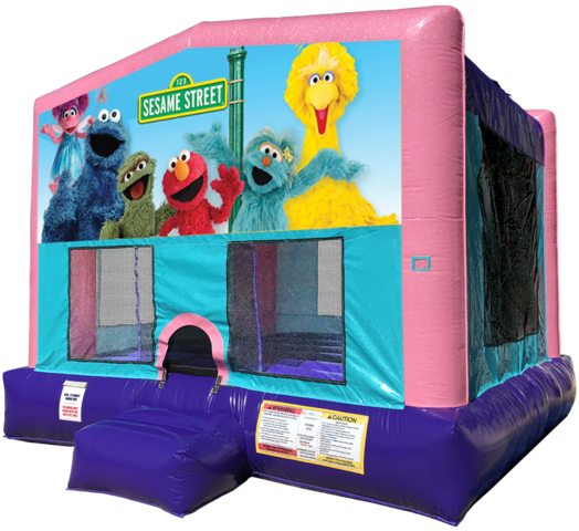 Sesame Street Elmo Bouncer - Pink Edition