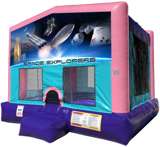 Space Explorers Bouncer - Pink Edition Space Force