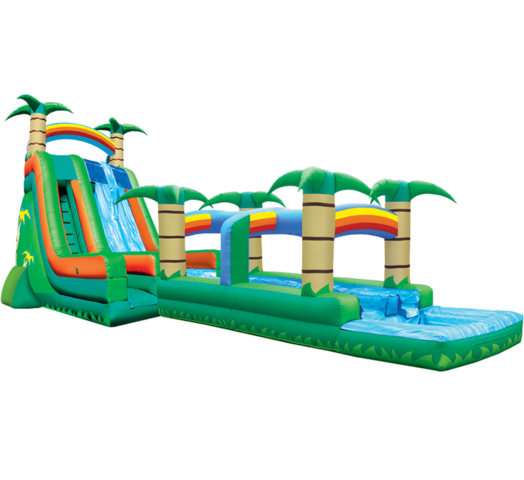 27' Tropical Dual Lane Hyper Water Slide