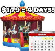 Carousel Bouncer - 4 Day Rental