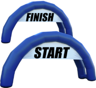 Starting Line + Finish Line Arches (Inflatable Arch)