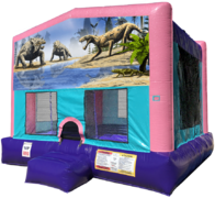 Dinosaurs Bouncer - Sparkly Pink Edition