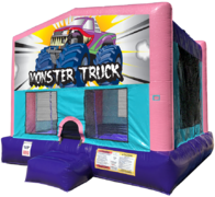 Monster Truck Bouncer - Sparkly Pink Edition