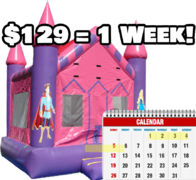Pink Princess Castle - Weekly Rental