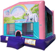 Rainbow Unicorn Bouncer - Sparkly Pink Edition