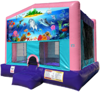 Under the Sea Bouncer - Sparkly Pink Edition
