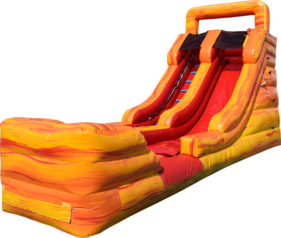 16' Lava Single Lane Water Slide