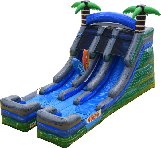 16ft  Double Lane Tropical Water Slide