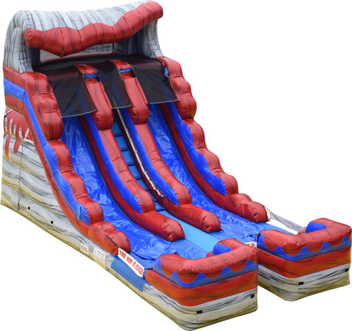 16ft Double Lane Volcano Water Slide