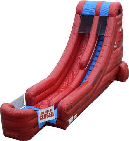 18ft Red Marble Water Slide