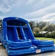 20' Double Lane Blue Crush Water Slide