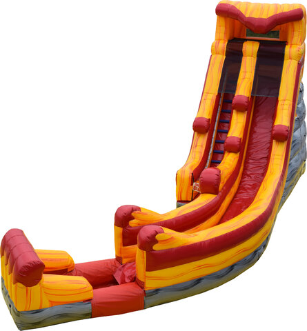 20ft Lava Curve Water Slide