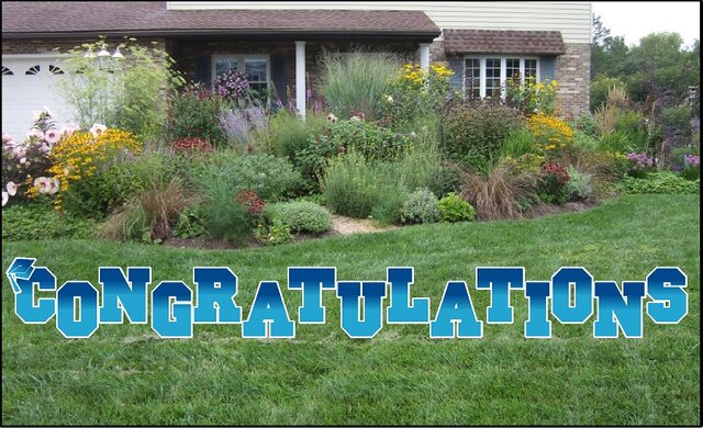 Congratulations Yard Sign Blue
