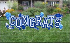 Congrat's Blue Yard Sign