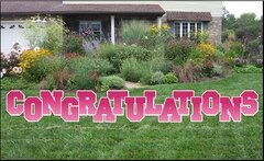 Congratulations Yard Sign Pink