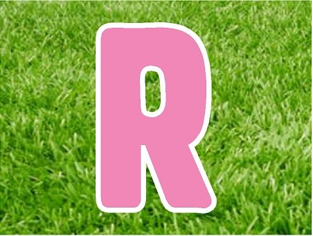 R in pink