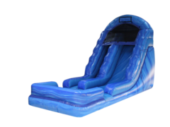 16' Blue Marble Single Lane Water Slide
