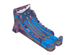 18ft Purple Marble Double Lane Water Slide