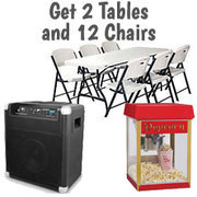 Table, Chairs, Concession Package
