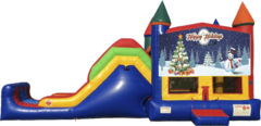 Happy Holidays Bounce House Combo