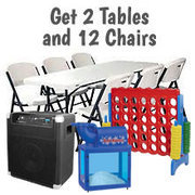 Table, Chairs, Concession & Game Package