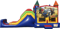 Ninjago Bouncy Castle & Slide