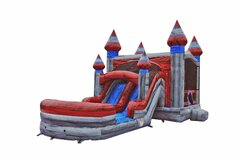 Titanium Double Lane Bounce House Combo Wet/Dry