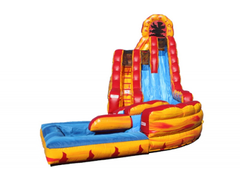 20' Double Lane Fire N Ice Water Slide