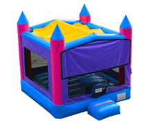 Pink & Purple Marble Bounce House