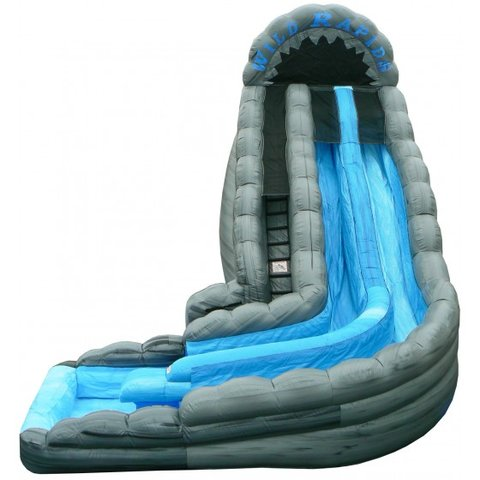 18' Double Lane Wild Rapids Water Slide