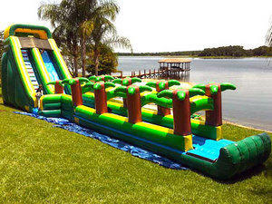 22' Palm Tree Inflatable Water Slide w Slip N Slide (Wet Only)