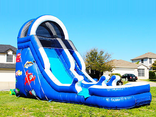 20' Sea World Inflatable Water Slide w/Pool