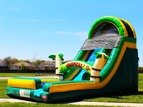 18' Tiki Inflatable Water Slide