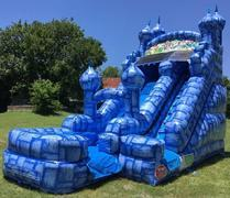 16' Blue Castle Inflatable Water Slide