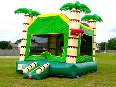 Palm Tree Bounce House W/ Basketball Goals