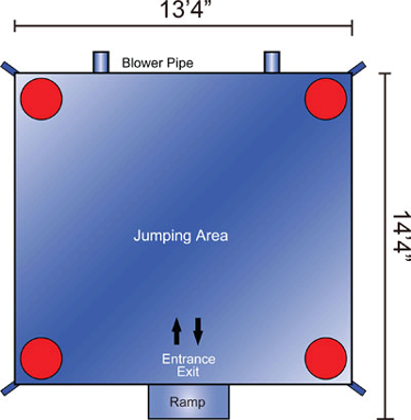 13ft x 13ft Bounce House Layout